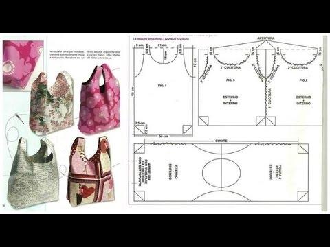 e7d8ba96f moldes de carteras y bolsos paso a paso - YouTube