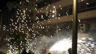 Benidorm November Fiestas street fireworks Video by Mick Flynn:
