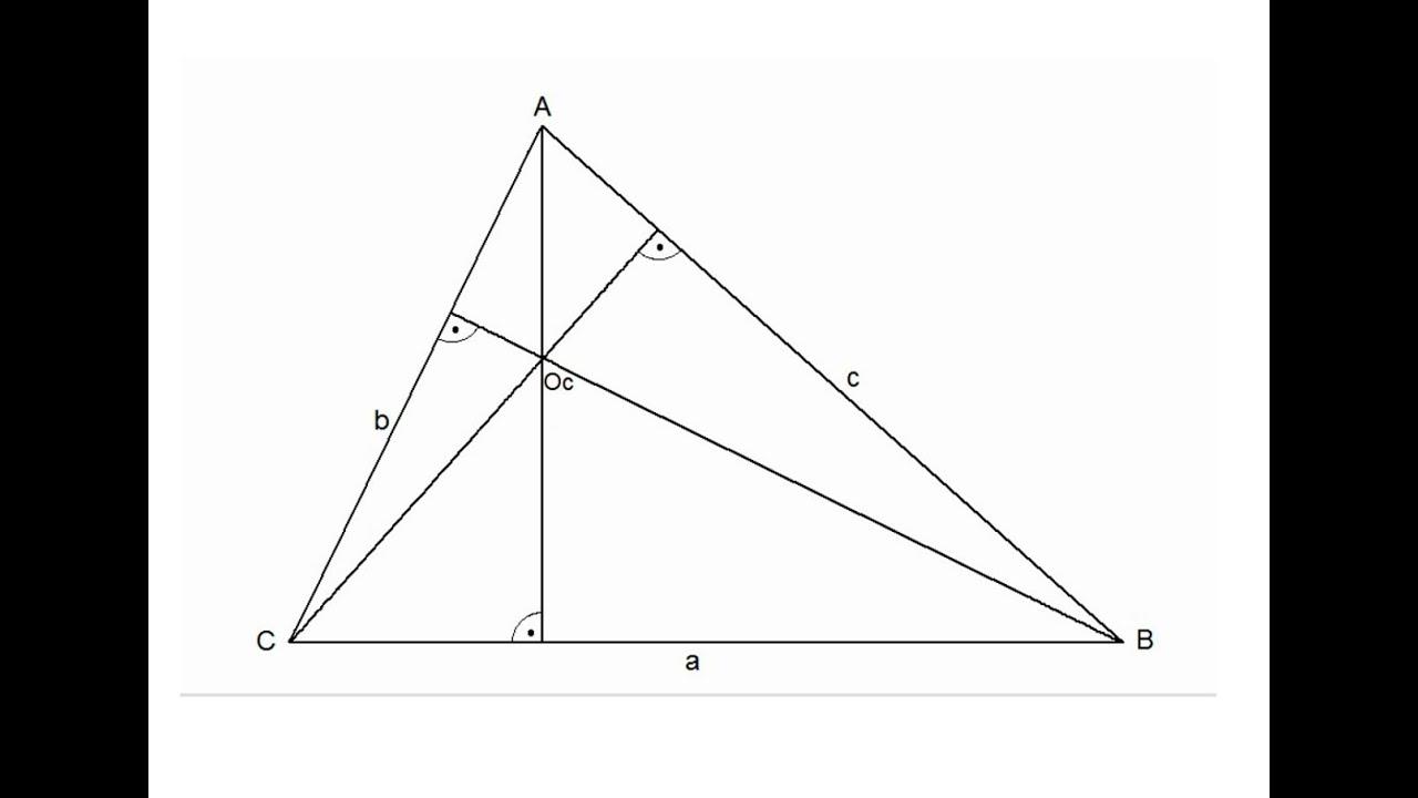 Ortocentro De Un Triángulo Youtube