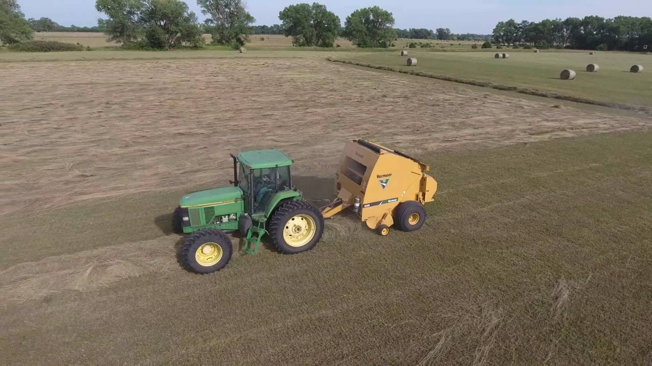 605c vermeer round baler good or bad - Round Baling Hay In Nebraska With Vermeer N Round Baler