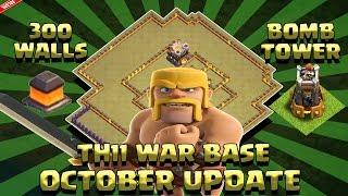 Clash Of Clans - TH11 WAR/TROPHY BASE OCTOBER UPDATE 300 WALLS 2 BOMB TOWERS