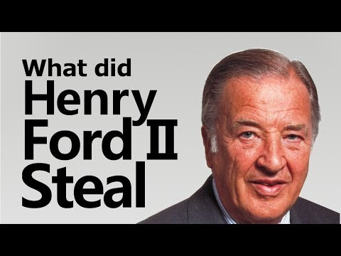 What did Henry Ford II Steal from a common man | One man fought the might of Ford  Motors and won!