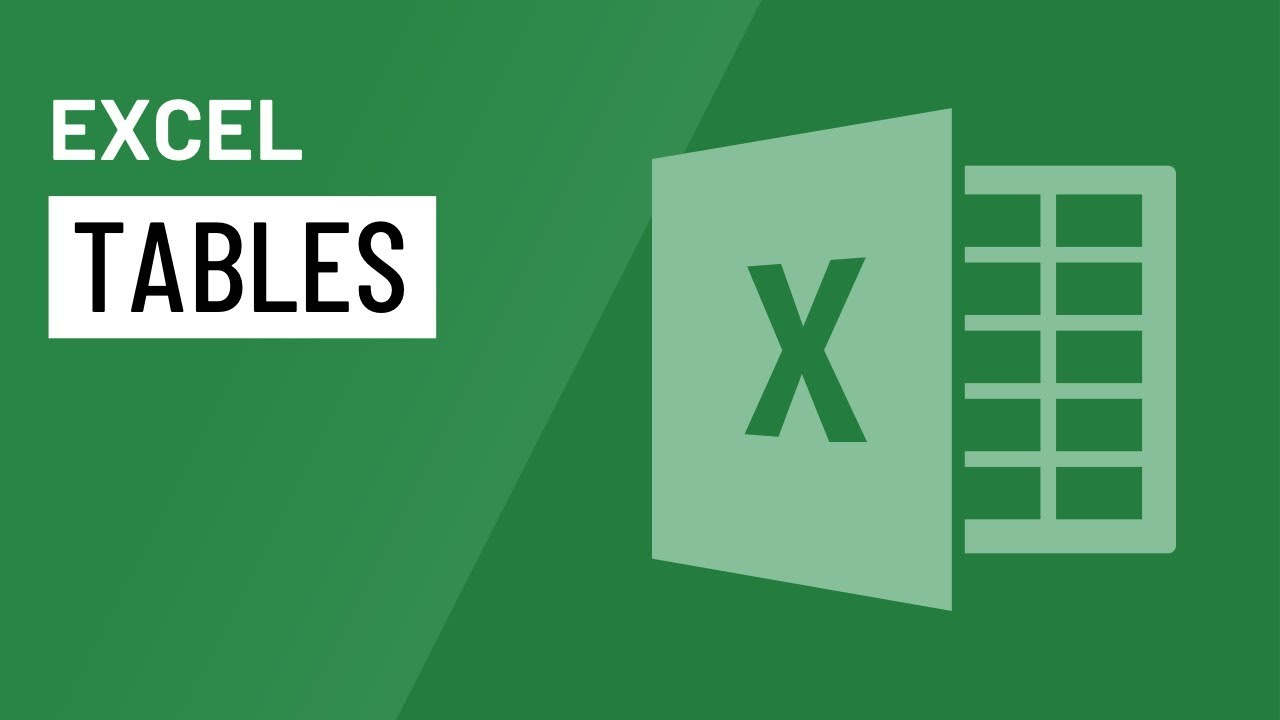 Excel: Tables