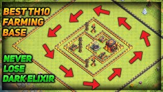 Best Th10 Farming Base With Replays | Never Lose Dark Elixir | Clash of Clans