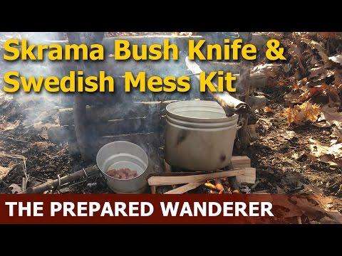 Skrama Bush Blade & Swedish Army Mess Kit
