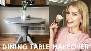DIY Dining Room Table Makeover 2018