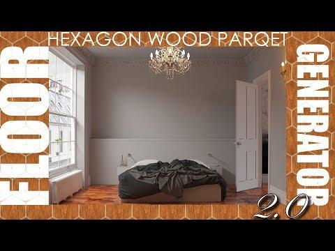 Floor Generator 2 0 - Hexagon Wood Floor - 3DsMax VRay 3 60