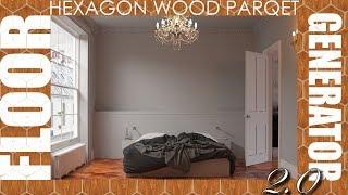 Floor Generator 2.0 - Hexagon Wood Floor - 3DsMax VRay 3.60