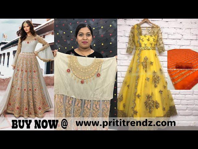 Buy Designer Net Embroidery Salwar Kameez #boutique #netsaree #prititrendz #onlineshoping #trending