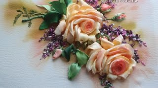 Вышивка лентами мастер класс Роза - урок 2 от Наталии Уритян