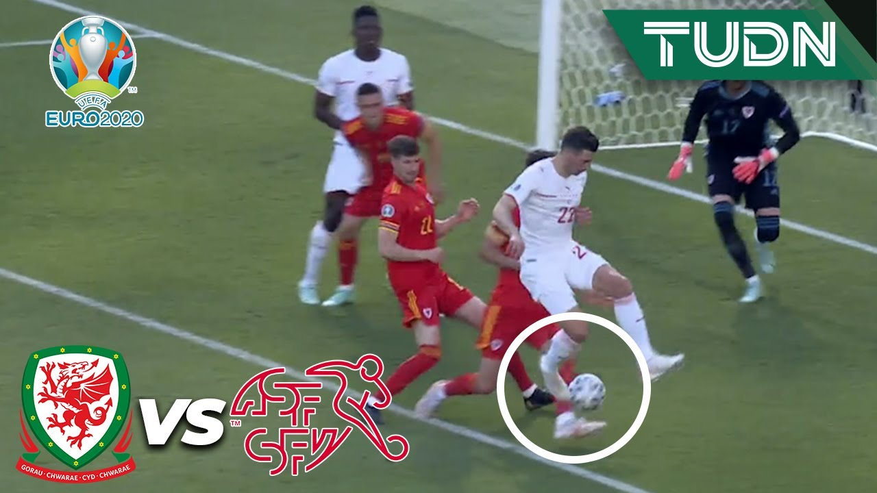 ¡Qué lujo! Casi es un GOLAZO de Fabian Schär   Gales 0-0 Suiza   UEFA Euro 2020   Grupo A-J1   TUDN
