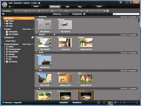 Ansicht filtern in Avid studio und Pinnacle Studio