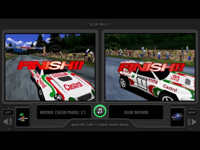 Sega Rally Championship (Arcade vs Sega Saturn) Side by Side Comparison
