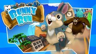لعبة Bunny Run مطاردة الدب للأرنب والدخول لمراحل متعددة حماسية..مع حموشي😍