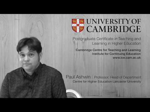 CIE | Perspectives on course and curriculum | Paul Ashwin