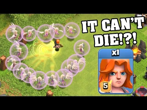 Clash Of Clans | 1 LEVEL 5 VALKYRIE + ALL HEALERS! (UPDATED VALKYRIE 2016)