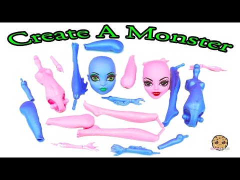 Create A Monster High Doll Sea Monster & Vampire Playset Maker Set Unboxing Cookieswirlc Video