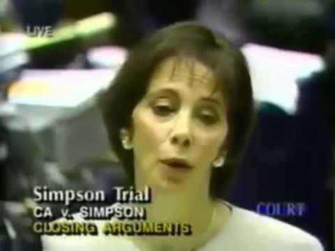 Marcia Clark Closing Argument - O.J. Simpson Murder Trial - Part 1
