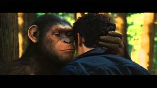 Repeat youtube video Rise of the Planet of the Apes - Ceasar can speak!!