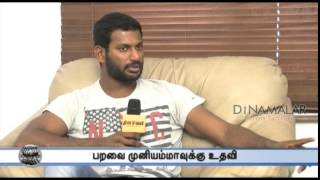 Actress Paravai Muniyamma Helped by Actor Vishal spl tamil cinema hot video news