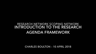 Introduction to the Research Agenda Framework
