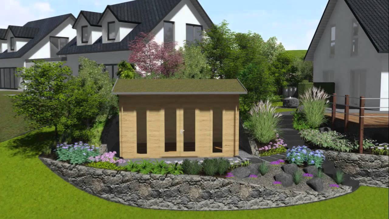 Gartengestaltung Hanglage   YouTube