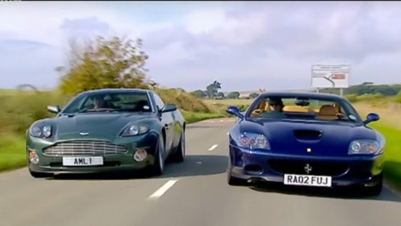 Aston Martin Vanquish Vs Ferrari 575 Part 2 Top Gear Youtube