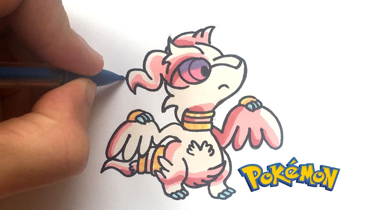 Draw Reshiram Kawaii Pokémon