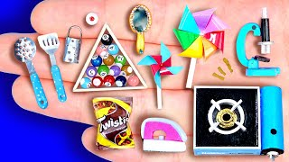 24 DIY MINIATURE FOODS AND CRAFTS FOR DOLLHOUSE BARBIE