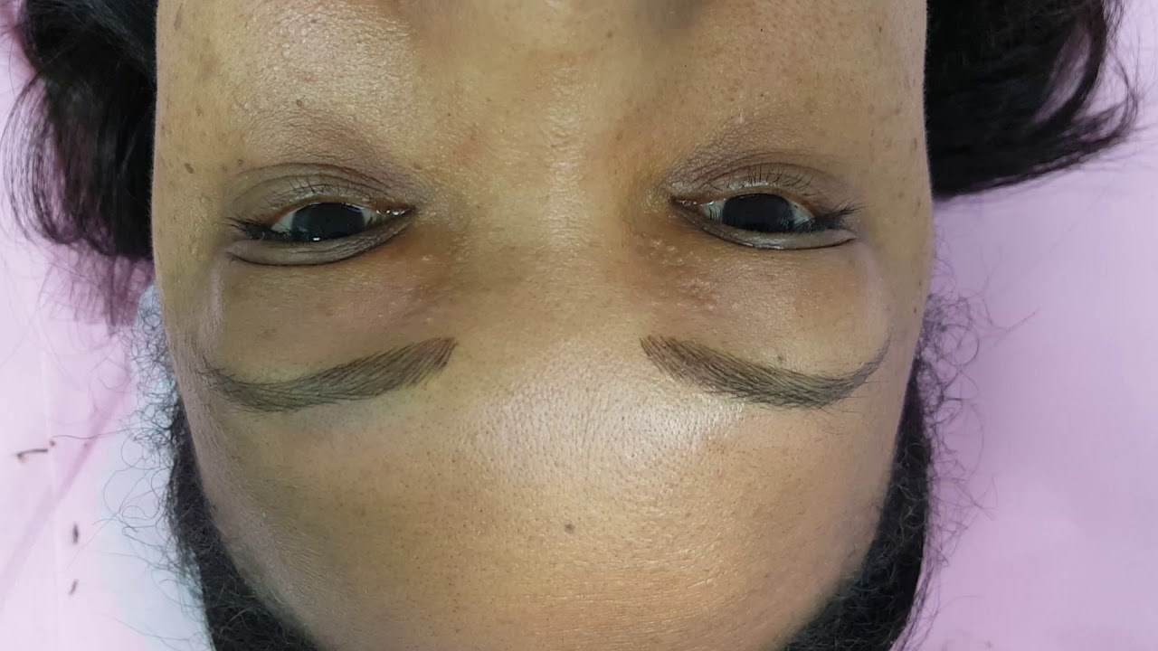 Eyebrows Restoration Microblading on Dark Skin by El Truchan @ Perfect definition