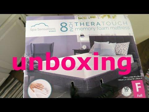 Unboxing Spa Sensations 8-inch Memory Foam Mattress