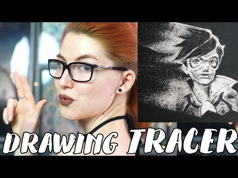 Drawing Tracer from Overwatch // Rad Art with Beth Be Rad | SNARLED