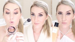 GETTING GLAM. trying Chanel tan spray, full coverage tutorial & more