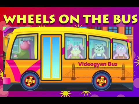 Wheels On The Bus Go Round And Round - Popular Nursery Rhymes For Children