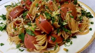 Спагетти с сардельками - Ани Кухня!