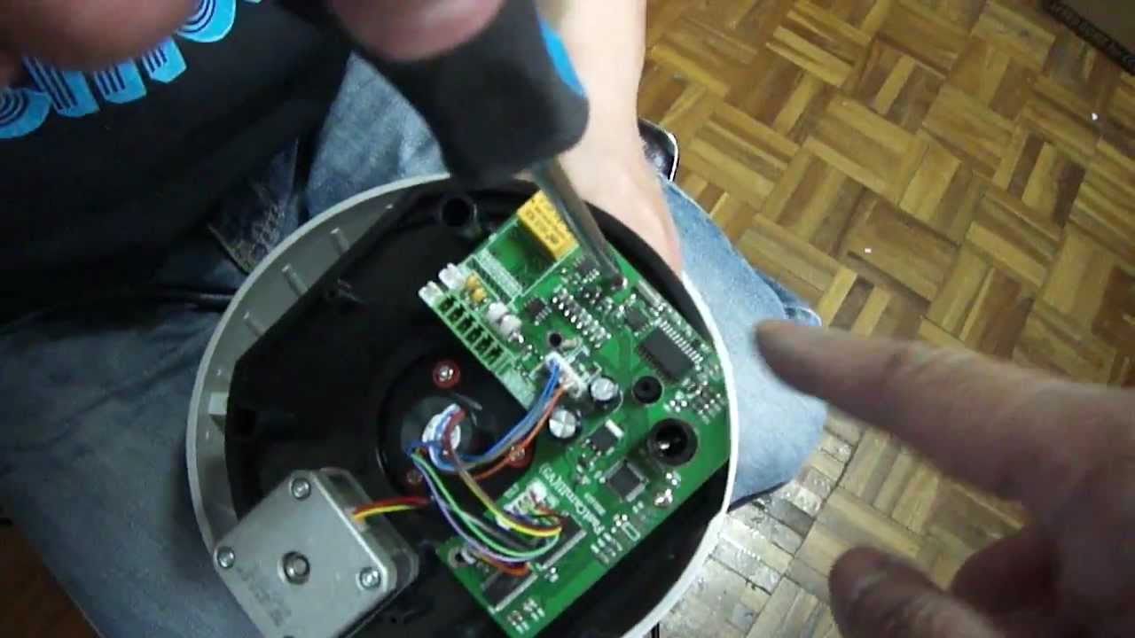 How To Disassemble The Ptz Dome Replace Pbc Youtube Camera Controller Wiring Diagram Get Free Image About