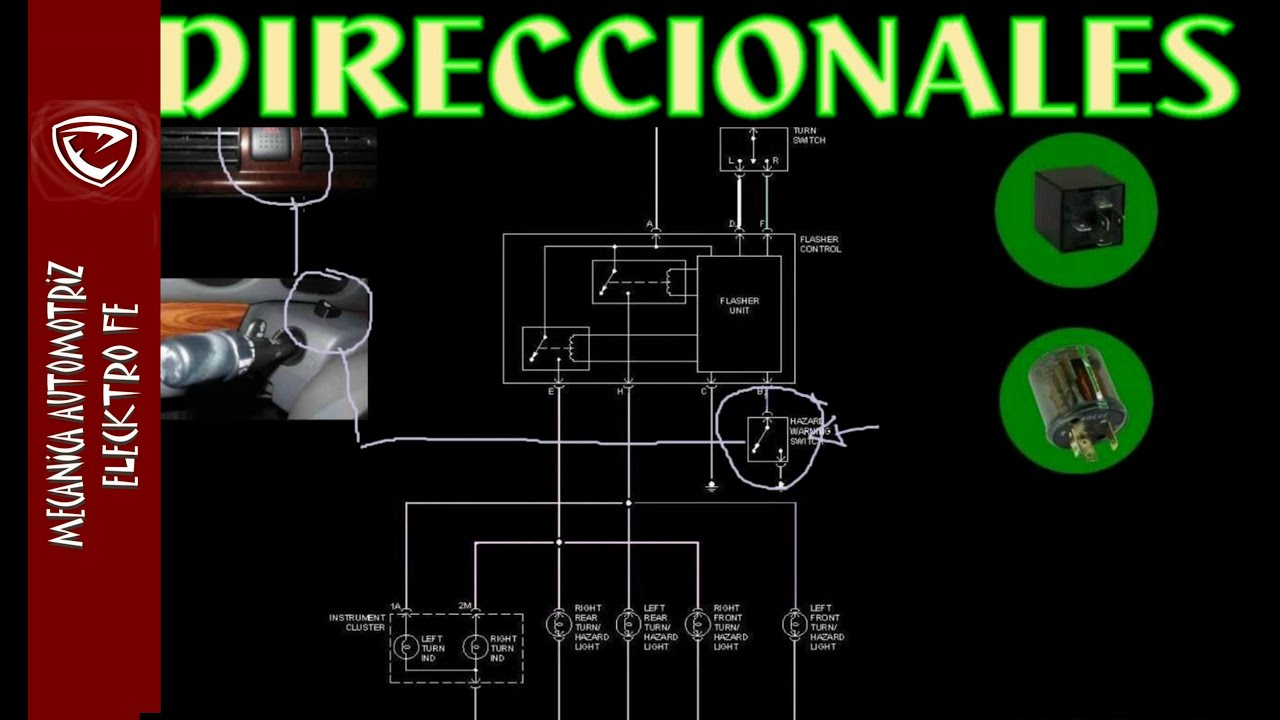 LUCES DIRECCIONALES (funcionamiento explicado con diagrama basico)  YouTube