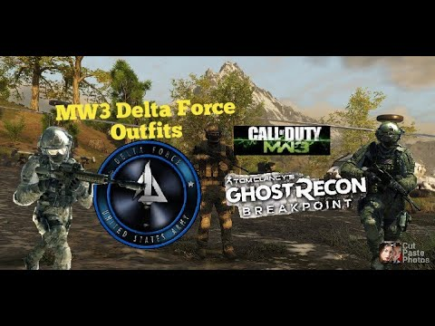 Ghost Recon Breakpoint MW3 Delta Force Outfits |