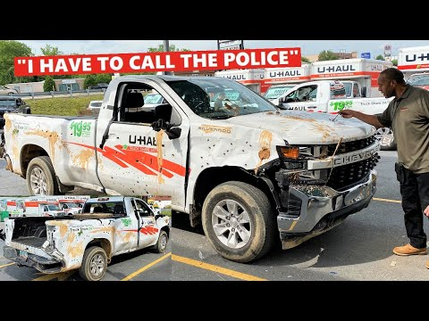 Renting a UHAUL Truck, DESTROYING it, and then Returning it... *PRANK*