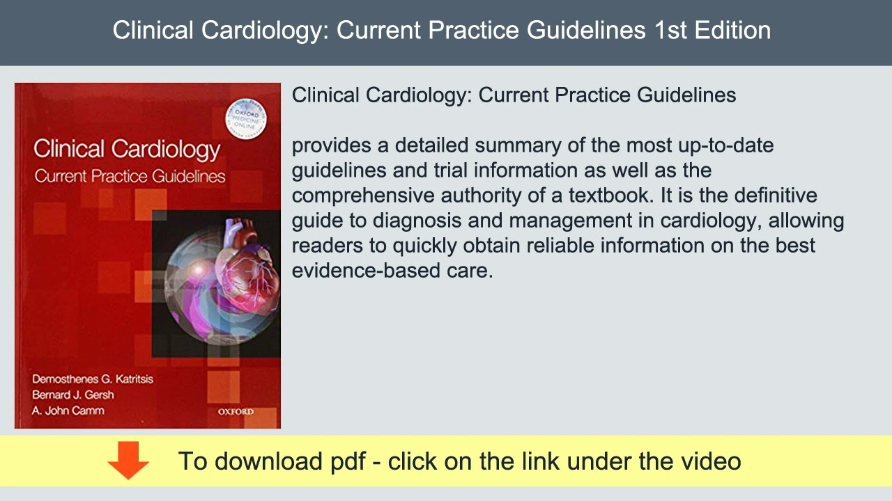 Clinical Cardiology: Current Practice Guidelines 1st Edition | PDF #cardiology