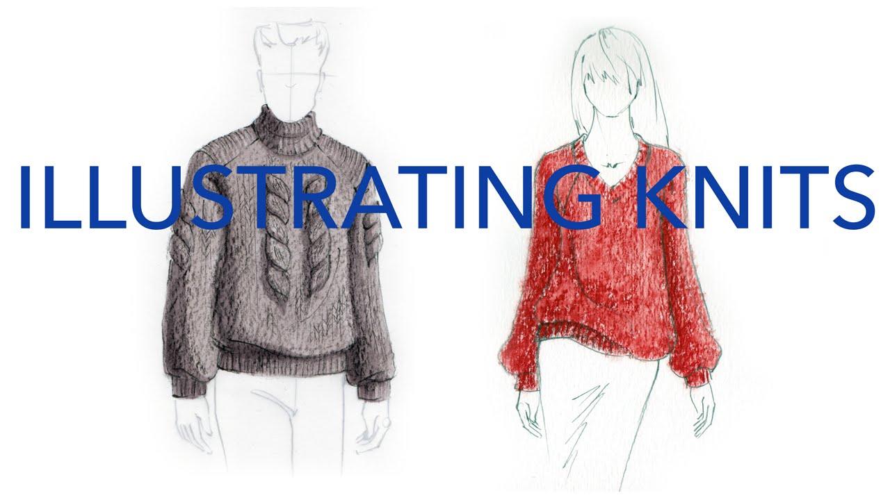 2203fc574 Fashion Illustration Tutorial  Knits - YouTube
