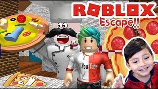 Pizzeria in Roblox ESCAPE THE PIZZA SHOP ? Roblox games for kids