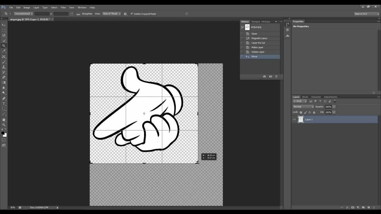 how to cut out irregular shapes in photoshop youtube