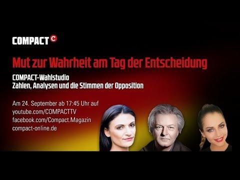 Aufzeichnung: COMPACT-Livestream zur Bundestagswahl