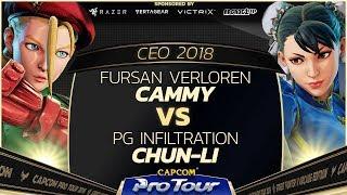 Fursan Verloren (Cammy) vs PG Infiltration (Chun-Li) - CEO 2018 - Top 8 - CPT 2018