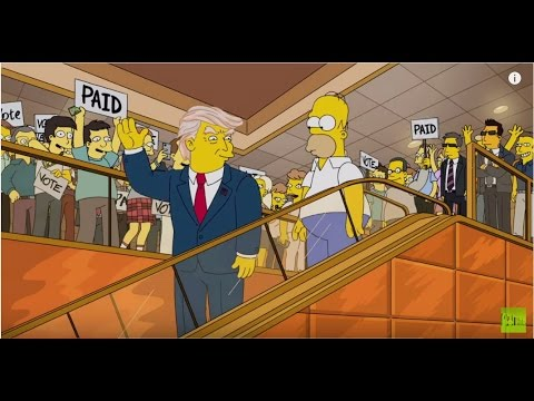 Thumbnail: Simpsons Donald Trump 2000 vs Trump escalator entrance 2015