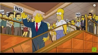 Simpsons Donald Trump 2000 vs Trump escalator entrance 2015