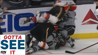 GOTTA SEE IT: Drew Doughty Hits Matthew Tkachuk, Flames And Kings Start Brawl