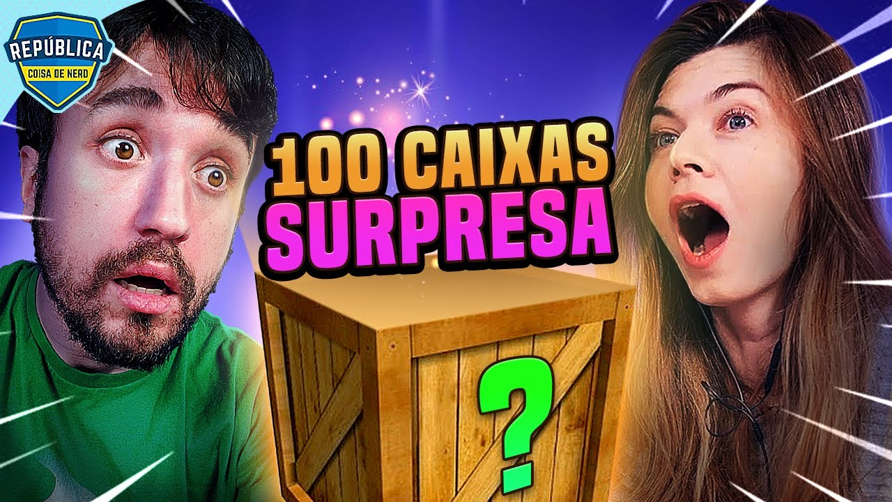 ABRINDO 100 CAIXAS SURPRESA DE UMA VEZ!