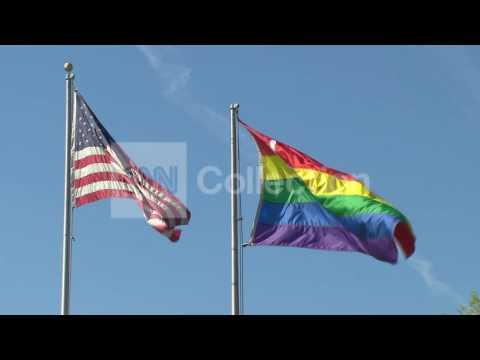 AMERICAN/GAY FLAGS